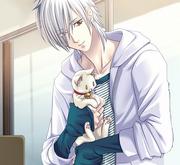 Hyoushin holding a kitty