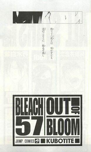 Bleach Volume 57 Poem Bleach Story RPG