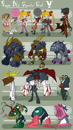 Sugar bits characters by bleedman