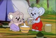 Blinky Bill goes camping Nutsy and Blinky cook