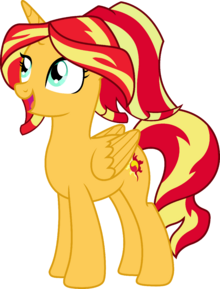 976155 safe solo vector simple+background open+mouth transparent+background sunset+shimmer alicorn alternate+hairstyle artist-colon-thes