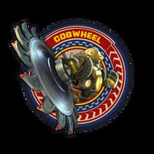 Frame cogwheel gold