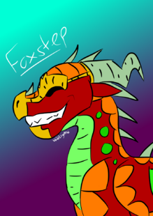 Foxstep as a dragon by VoidLegend