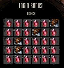 Login Bonus March