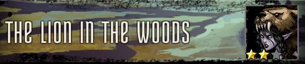 The Lion in the Woods Banner