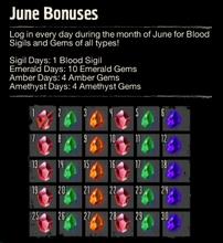 Login bonus June 2