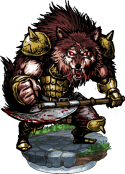 Wolfman Warrior II Figure