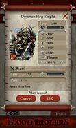 Dwarven Hog Knight (base stats)