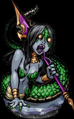 Lamia Spearguard II Figure