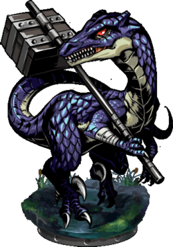 Lizardman Messenger II Figure