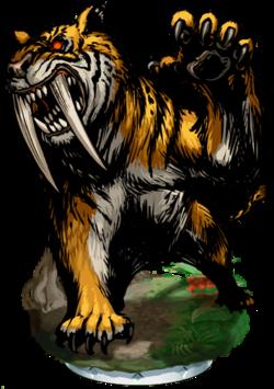 Saber-Toothed Tiger Figure