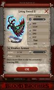 Living Sword II Base Stats