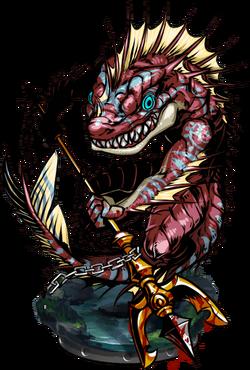 Sahagin Protector Figure