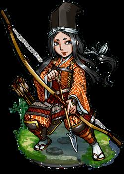 Tomoe, True-Arm Archer Figure