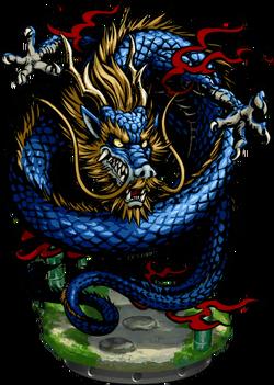 Blue Dragon Figure