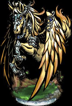 Pegasus, the Light Divine Figure