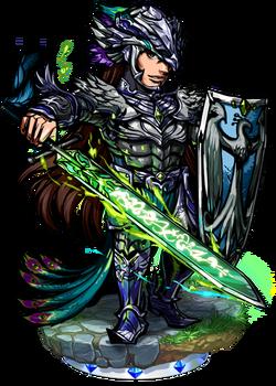 Melek, the Black Peacock Figure