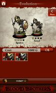 Skeleton Spearman (evolution)