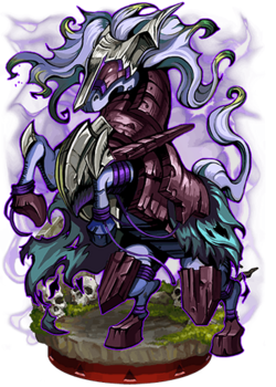 Dark-Imbued Siege Horse Figure