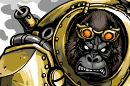 File:Brass Gorilla Face.png