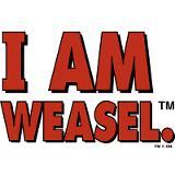 I am weasel logo mug