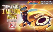 BoBoiBoy Galaxy 1 Million Views