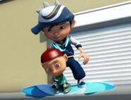 Boboiboy Cyclone offering some help on those hoverboard