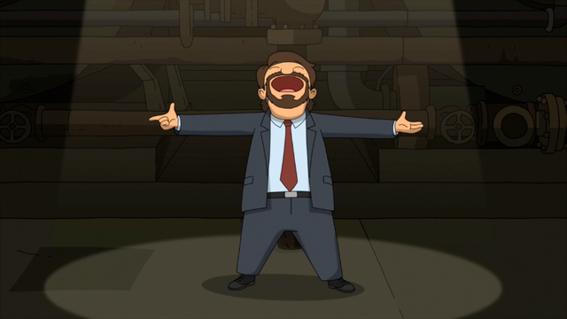 File:S5E01.162 Gene Singing as Hans Gruber.png