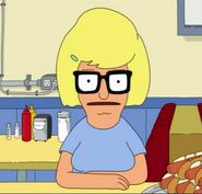 Tina as Mona in Sliding Bobs
