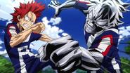Eijiro and TetsuTetsu obstacle race