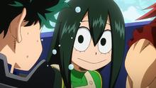 Tsuyu All Might comparison