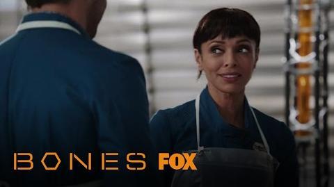 Arastoo And Cam Flirt While Examining Bones Season 12 Ep. 7 BONES