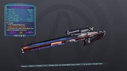 Streamlined Sniper Rifle 70M Purple Fire