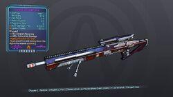 Enterprise Sniper Rifle 70D Purple Fire