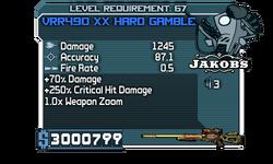 VRR490 XX Hard Gamble 1245