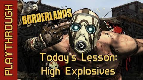 Today's Lesson High Explosives