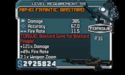AR40 Frantic Bastard
