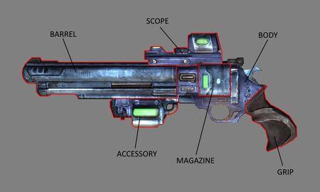 Revolver Parts BL1