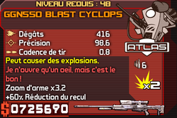 GGN550 Blast Cyclops
