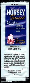 Arby's Horsey Sauce packet 2002