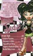 Bratz 1980s Jade Trading Card