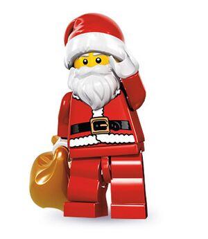 Lego minifig series 8 father christmas santa claus saint nicholas costume present - double