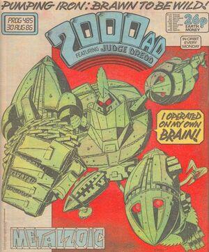 2000 AD prog 485 cover
