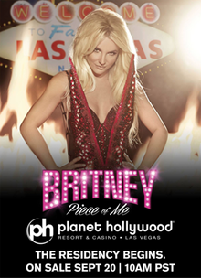 Britney Spears Piece Of Me Residency Poster
