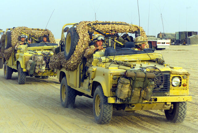 File:Land Rover Defender 110 patrol vehicles.jpg