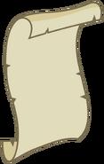 Paper Work cutie mark unfurled scroll