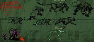 Lazer Panther Action Sheet