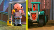 Farmer pickles and travis chatting on the talkie talkie