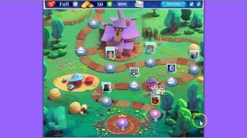 Bubble Witch Saga 2 Level 2 GREEN SPIDER