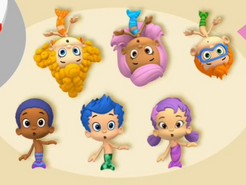 Bare cute guppies